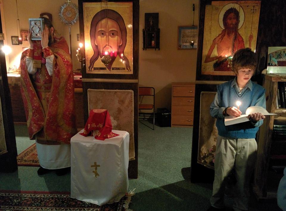 Timothy at Russian church